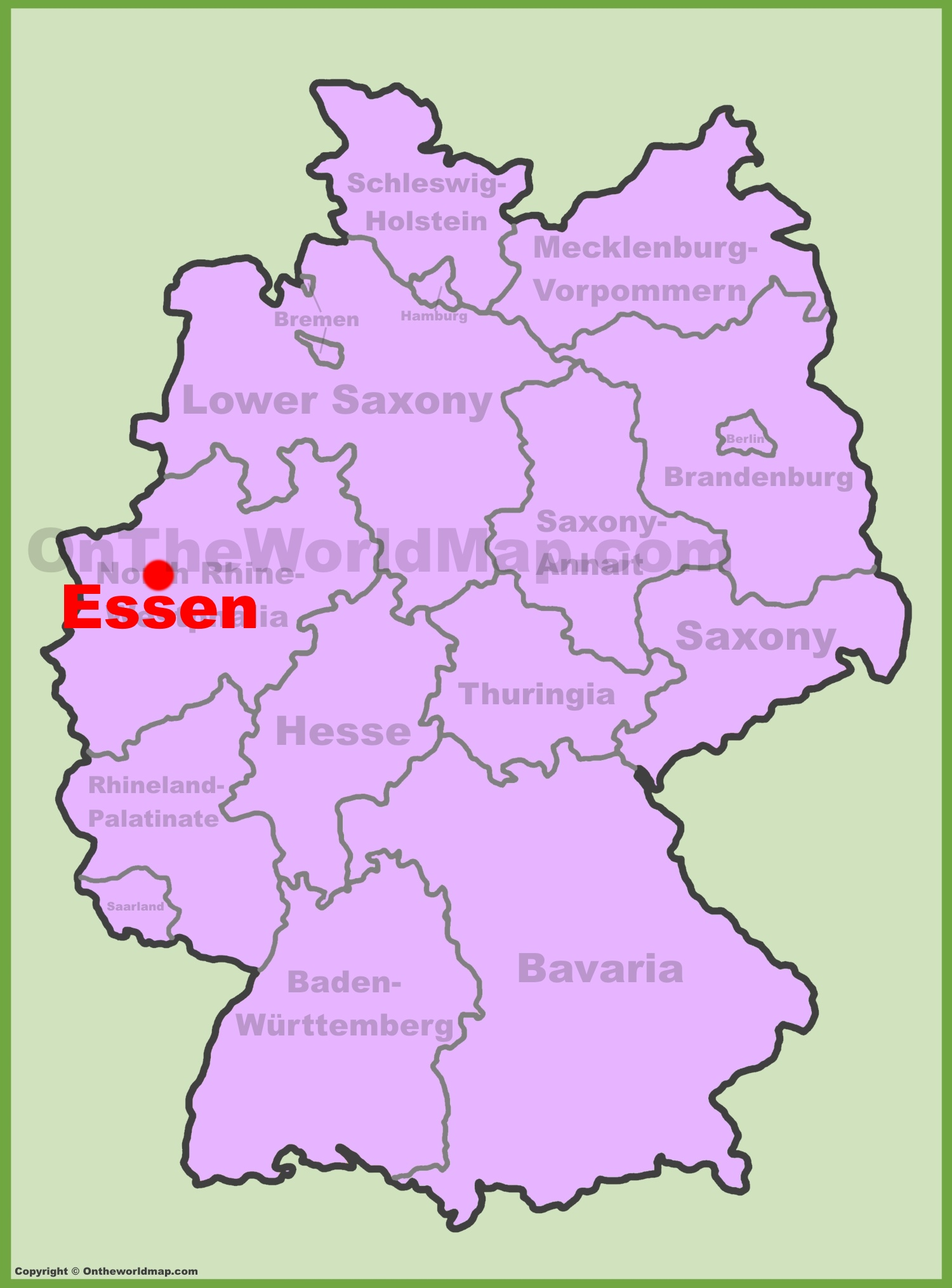 Essen Location On The Germany Map