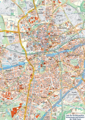 Essen tourist map