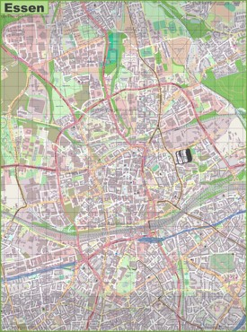 Large detailed map of Essen