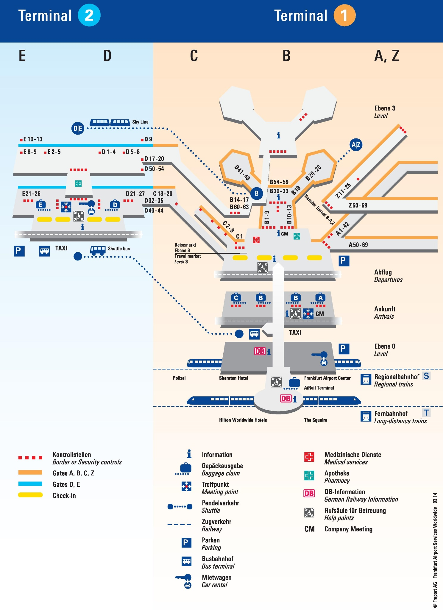 Map Of Frankfurt Airport Frankfurt airport terminal map