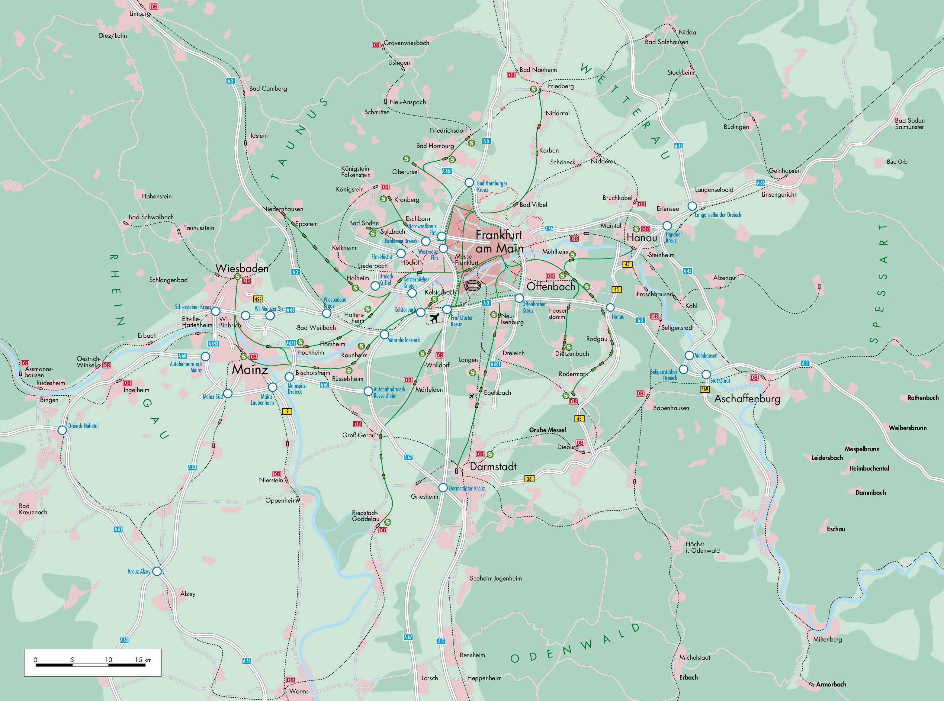Frankfurt Area Map