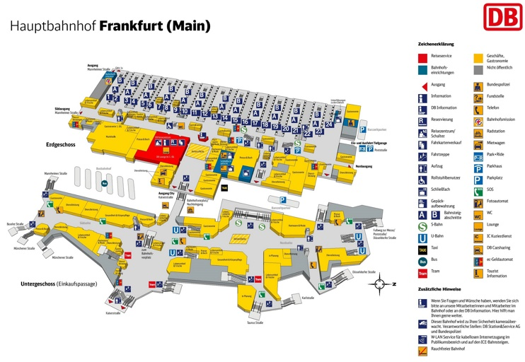 frankfurt hauptbahnhof map central train station. Black Bedroom Furniture Sets. Home Design Ideas