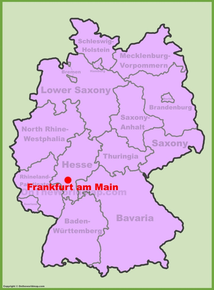 Frankfurt location on the Germany map
