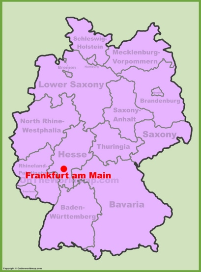 Frankfurt Location Map