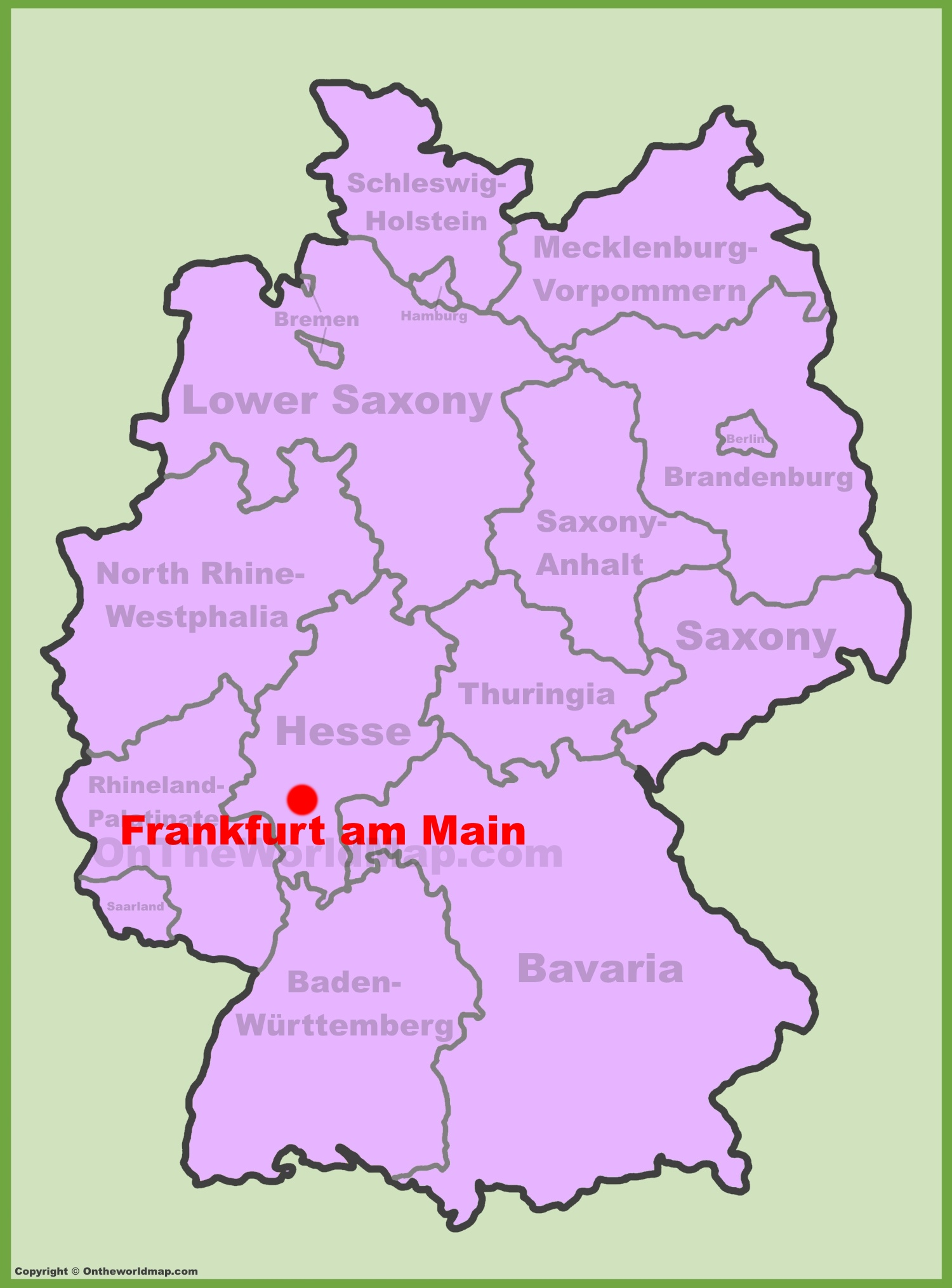 full size frankfurt location map