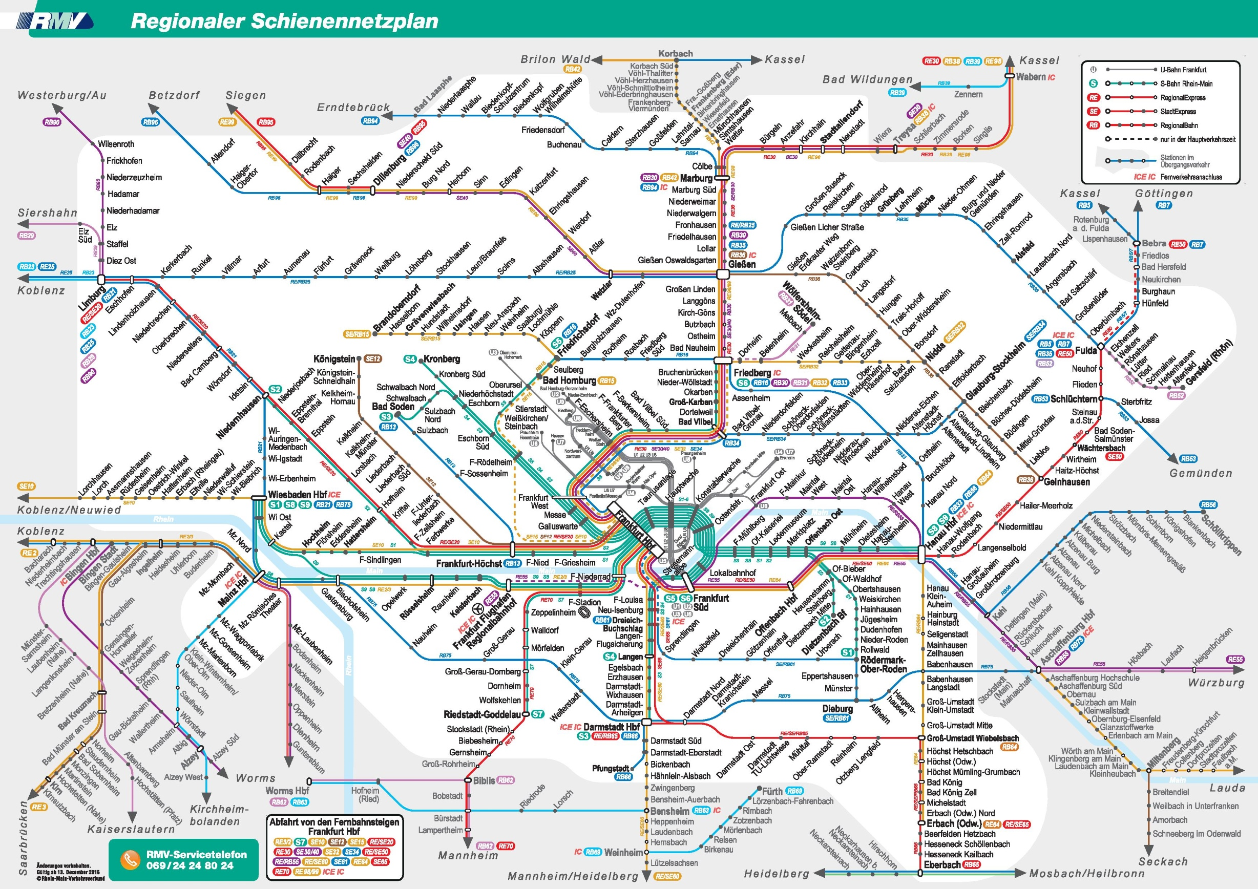 Frankfurt region transport map