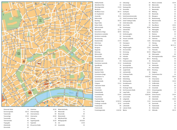 Frankfurt street map