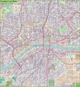 Large detailed map of Frankfurt