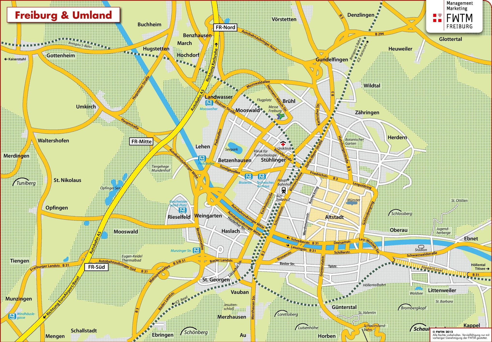 Freiburg Area Map