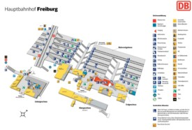 Freiburg hauptbahnhof map