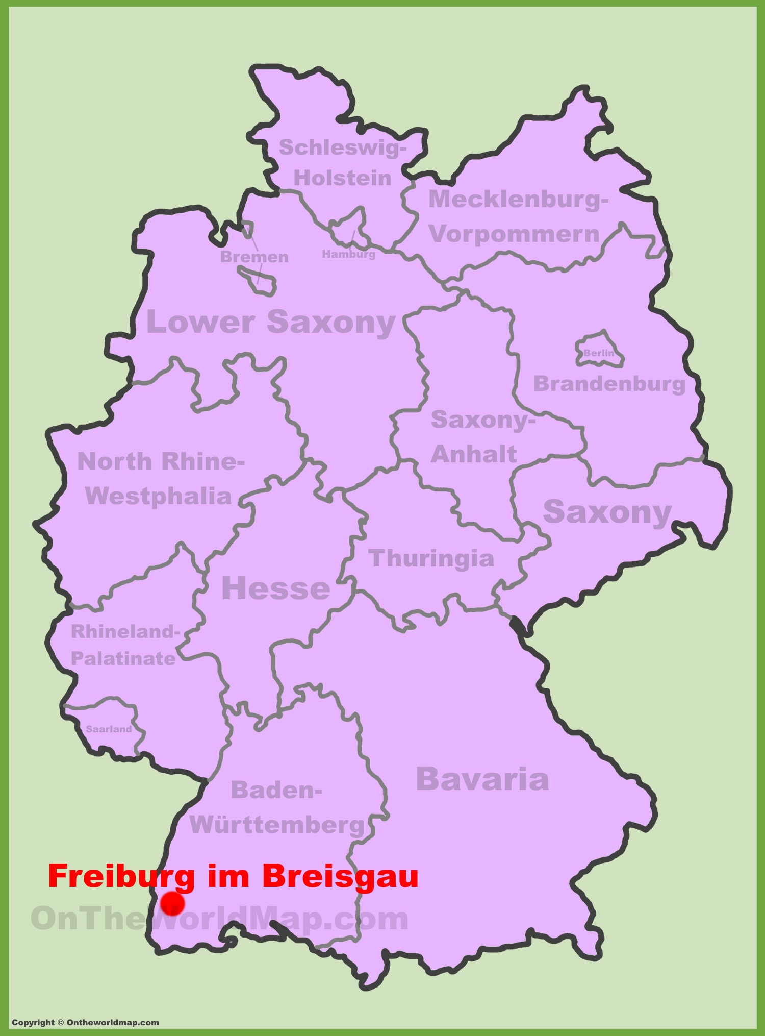 Freiburg location on the Germany map