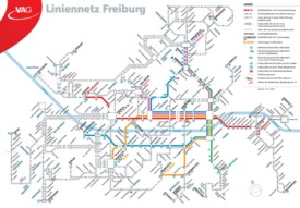 Freiburg tram map