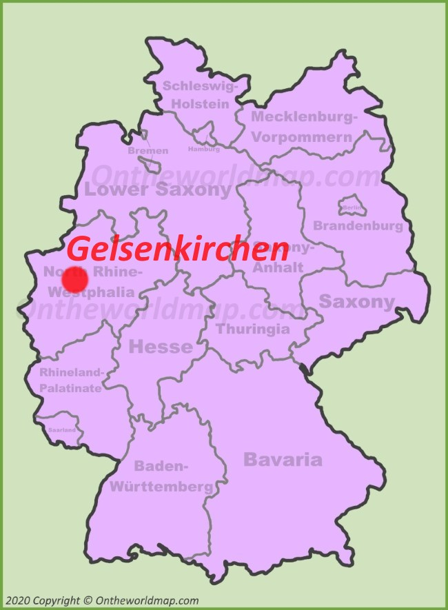 Gelsenkirchen location on the Germany map