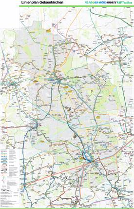Gelsenkirchen Transport Map