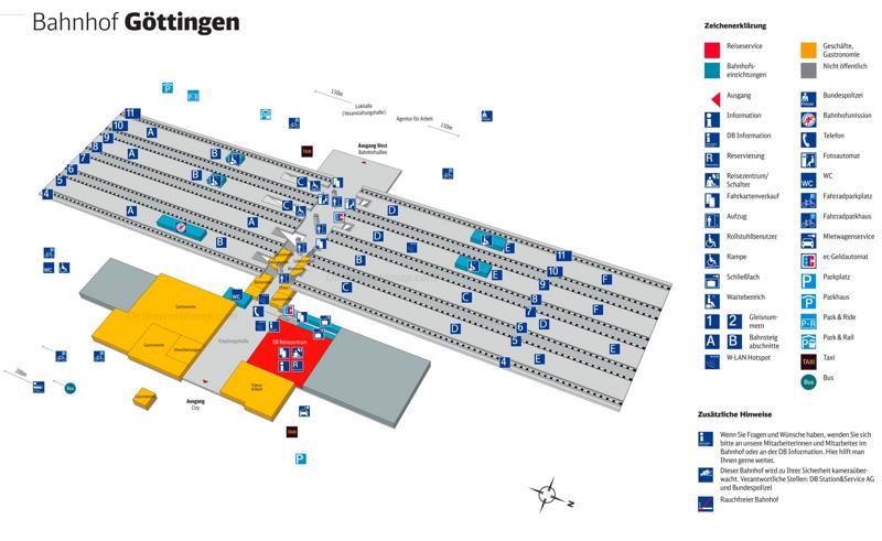 Göttingen Hauptbahnhof Map