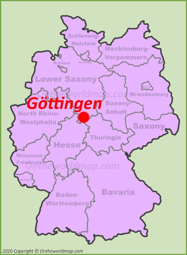 Göttingen location on the Germany map