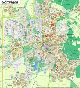 Göttingen Tourist Map
