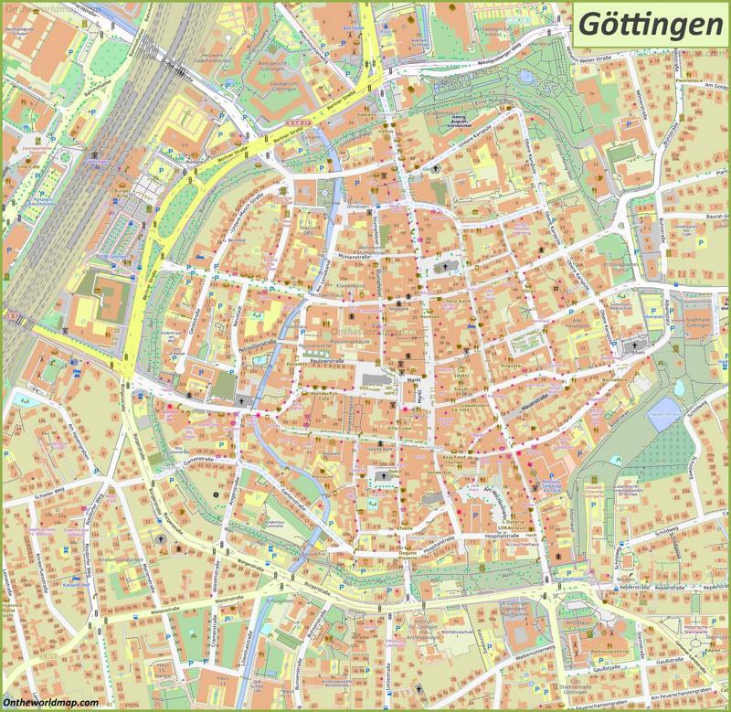 Map of Göttingen