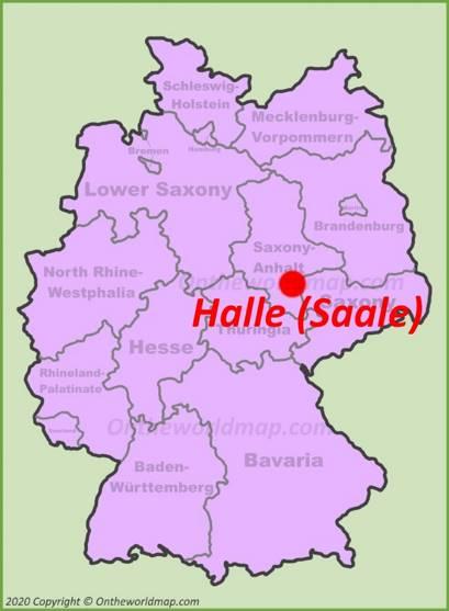 Halle (Saale) Location Map
