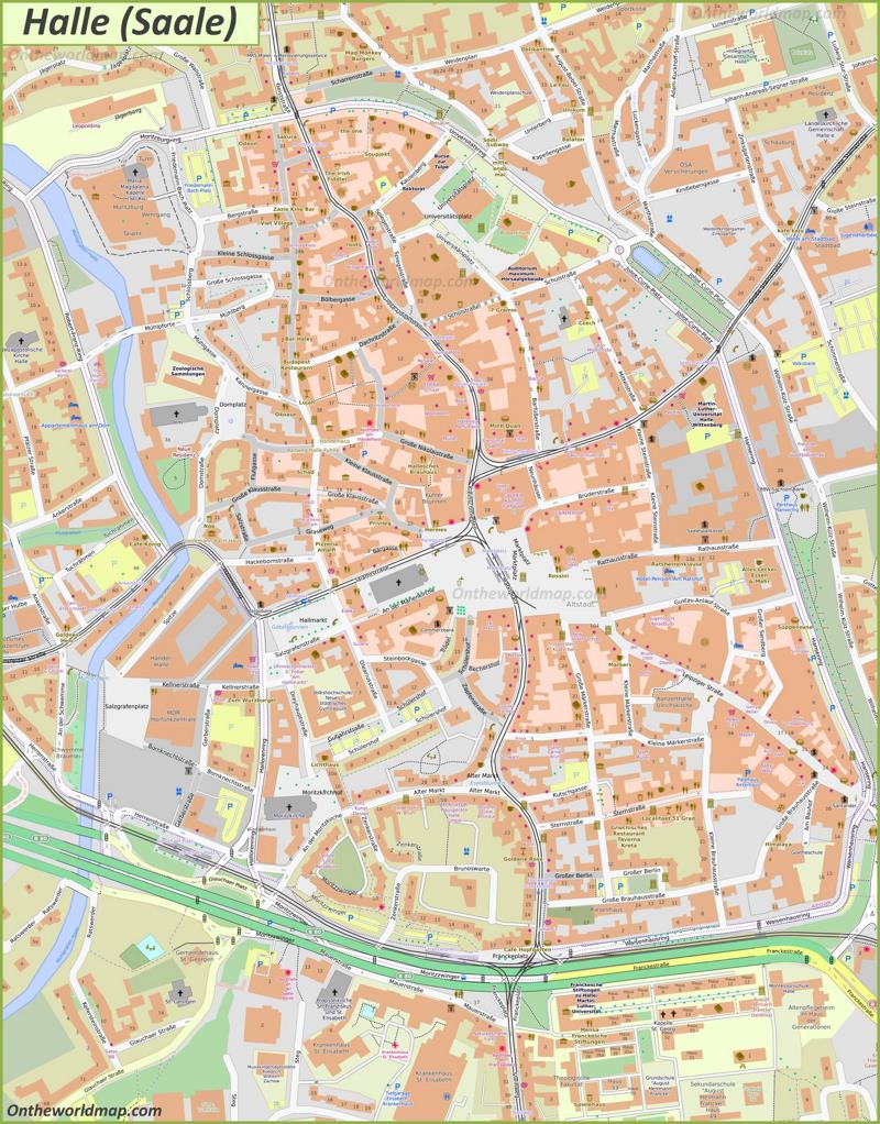 Map of Halle (Saale)