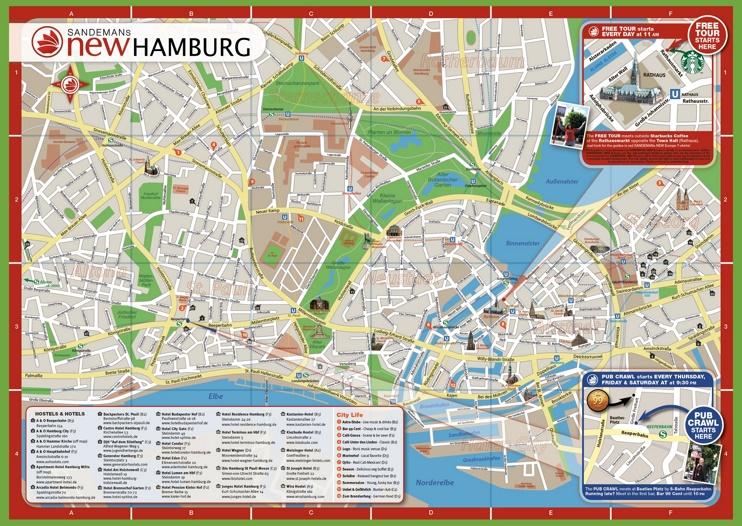 Hamburg hotel map