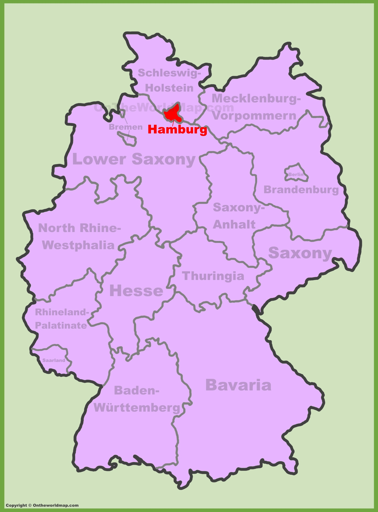 ... Hamburg Location Map