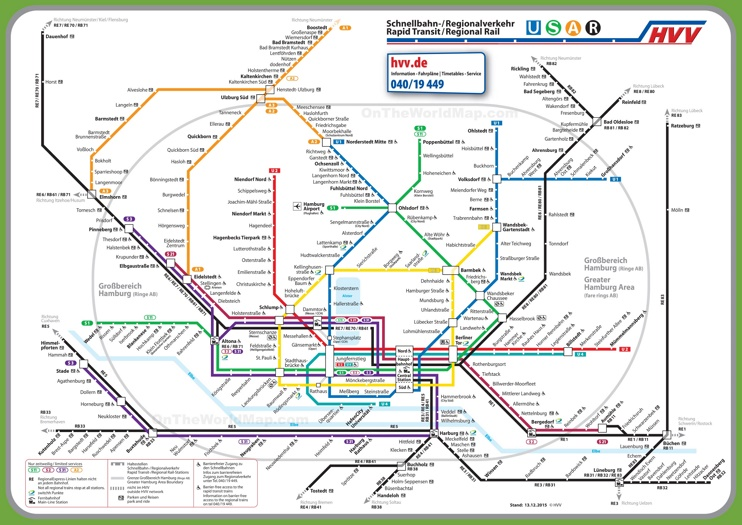 Subway Frankfurt Am hamburg transport map