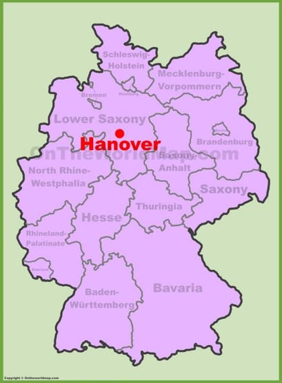 Hannover Location Map