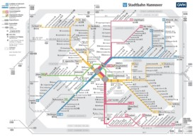 Hannover tram and metro map