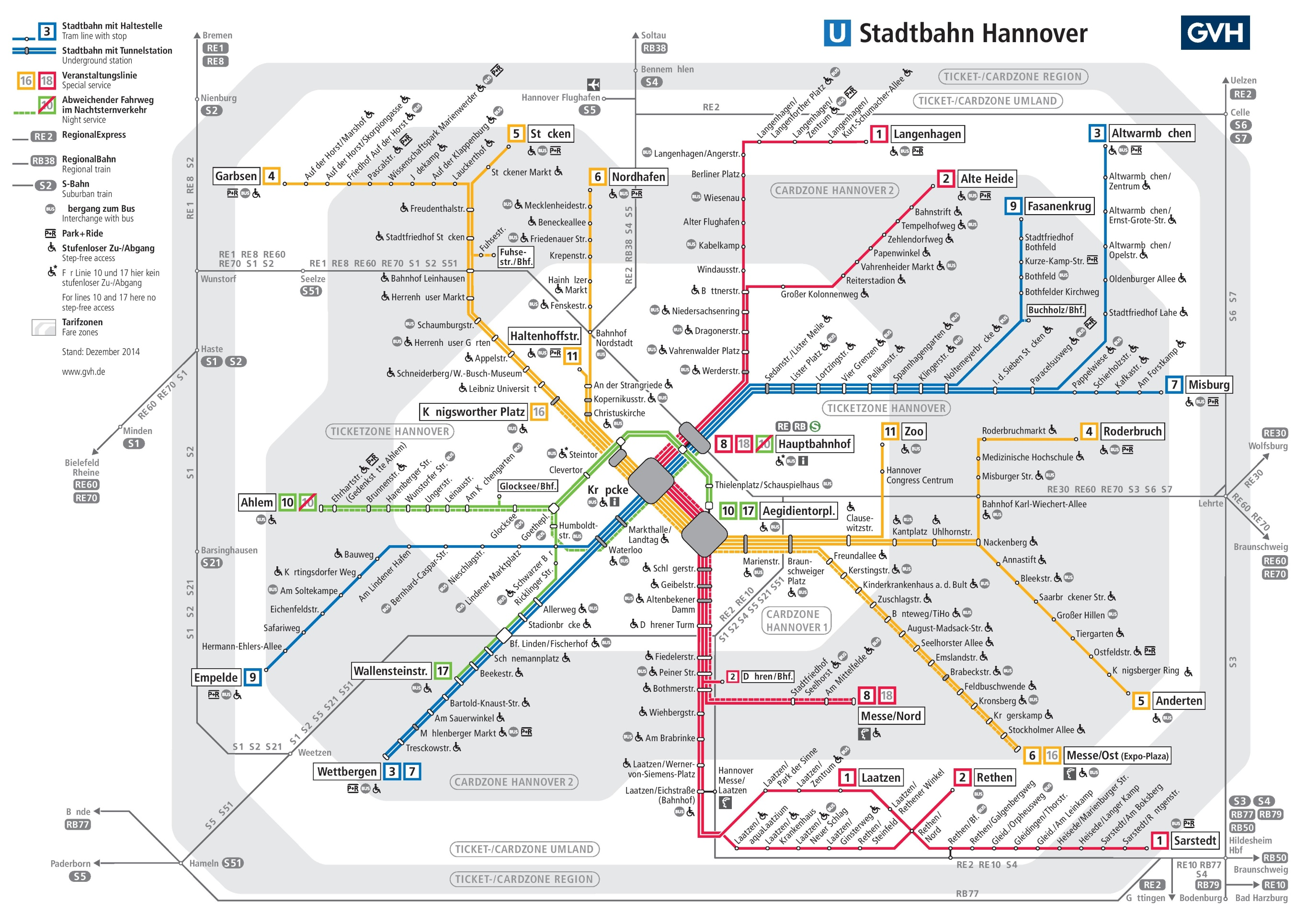 Hannover Tram And Metro Map - Geneva tram map