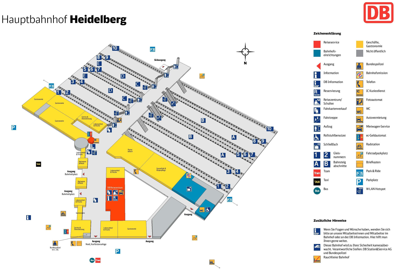 heidelberg hauptbahnhof map