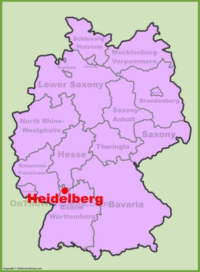 Heidelberg Location Map