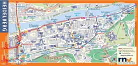 Heidelberg sightseeing map