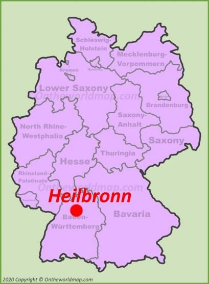 Heilbronn Location Map