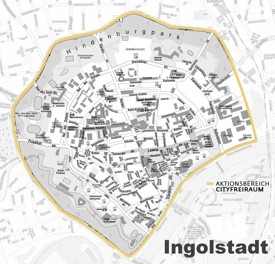 Ingolstadt city center map