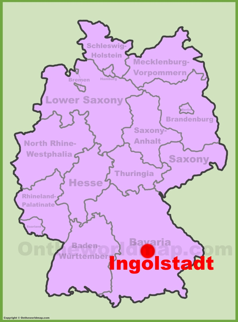 Ingolstadt Maps Germany Maps of Ingolstadt