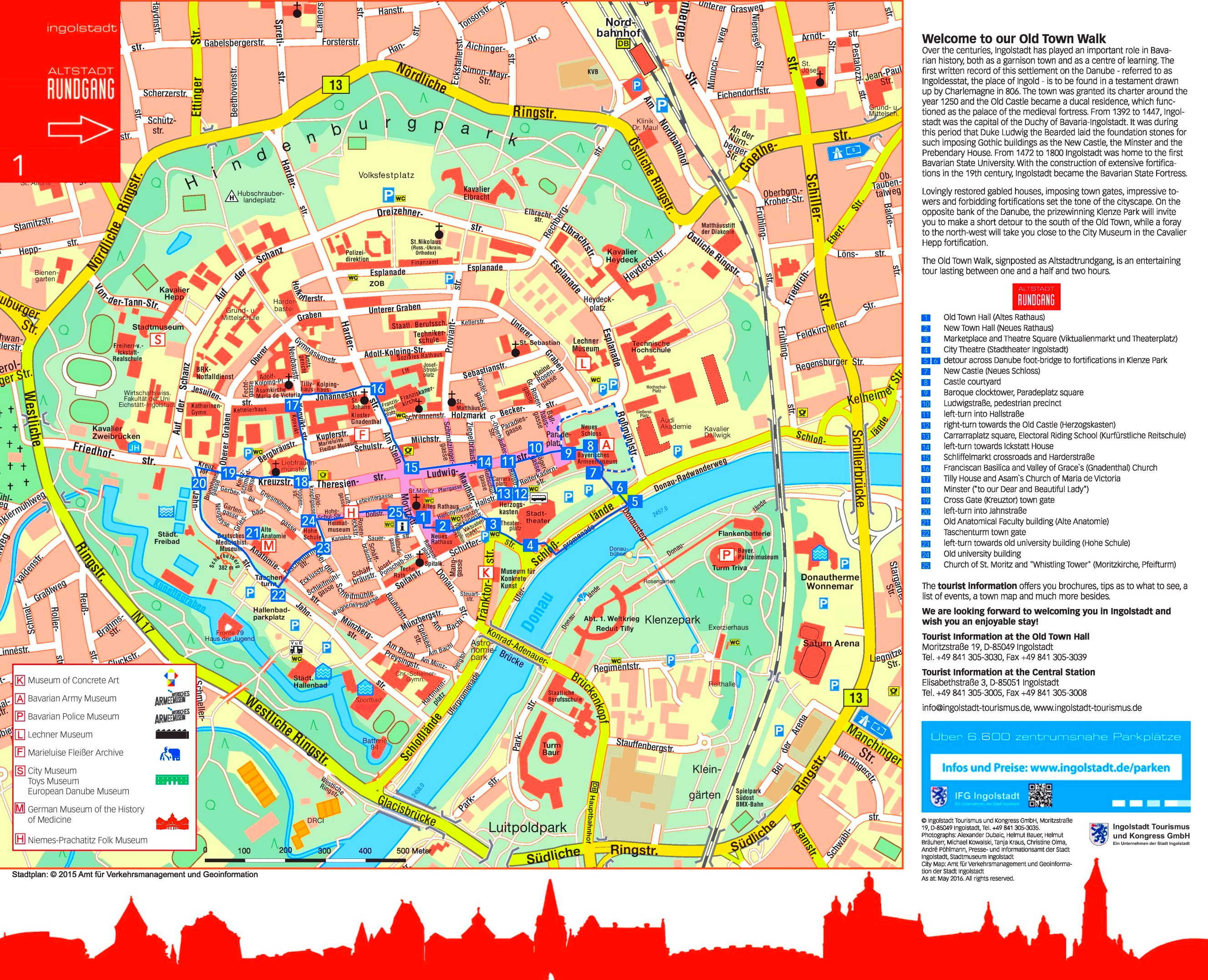 Ingolstadt tourist map