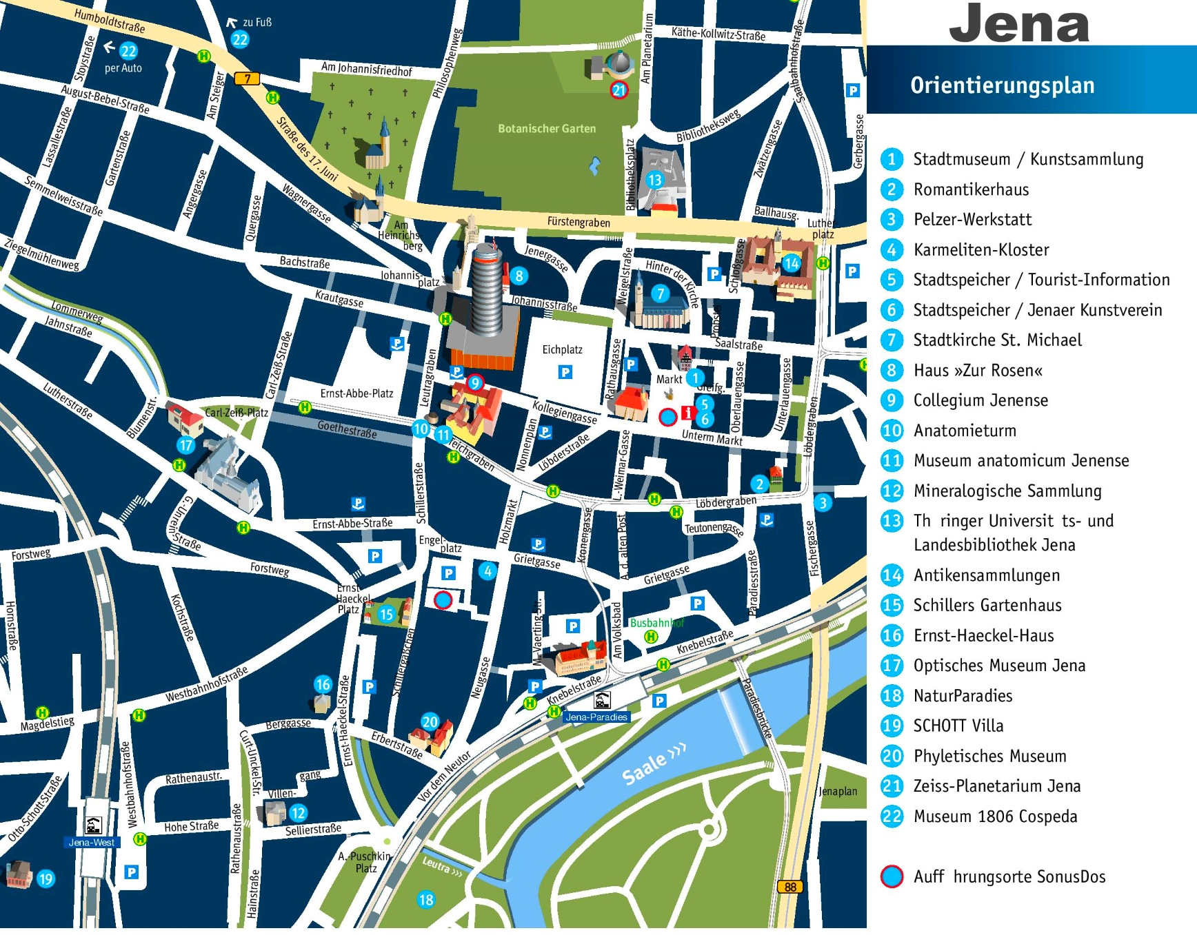 Jena city center map