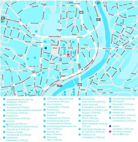 Jena sightseeing map