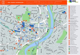Jena tourist map