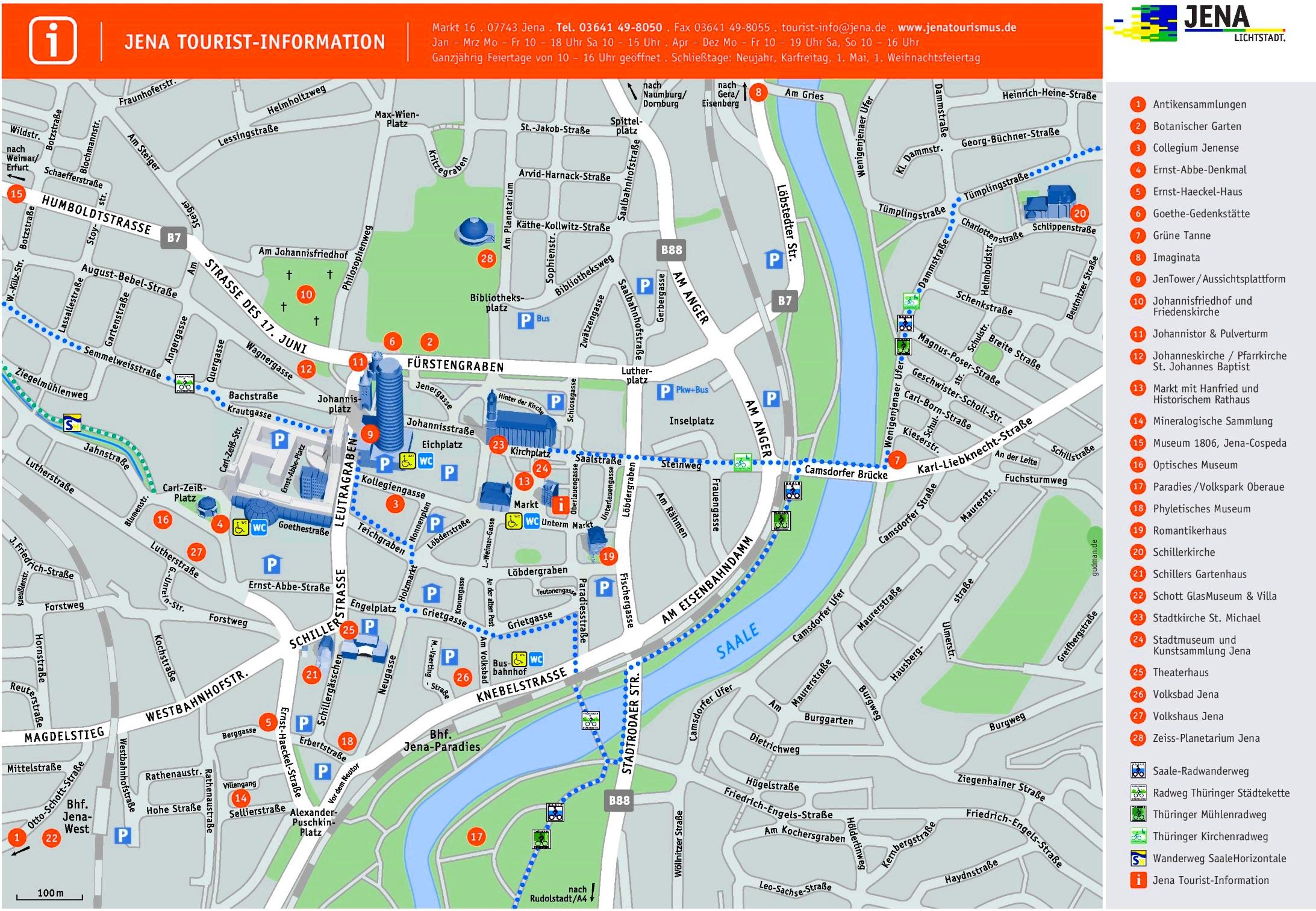 Jena tourist map