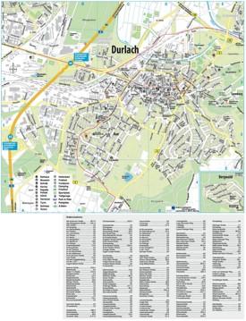 Karlsruhe Durlach map