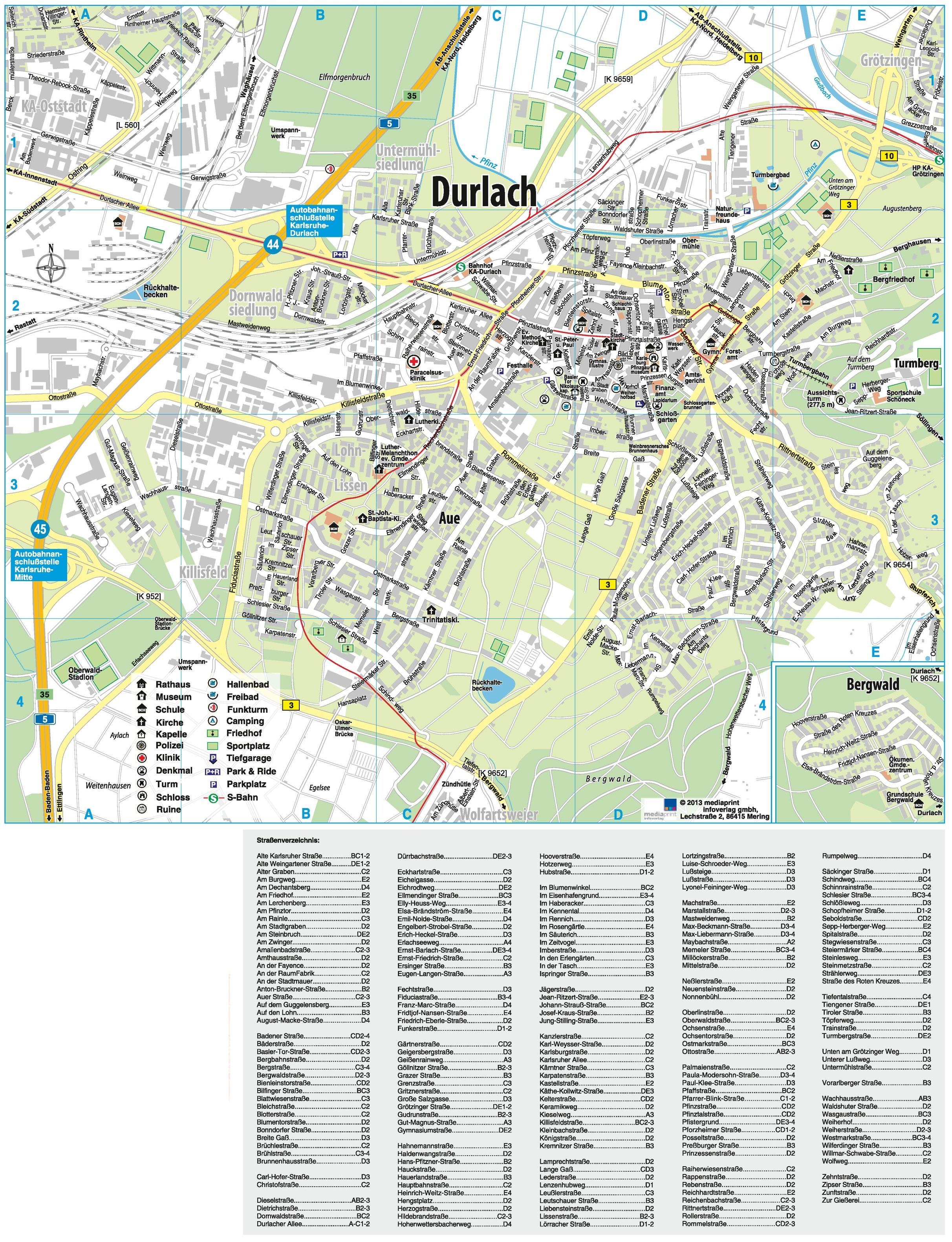 Karlsruhe Map Of Germany.Karlsruhe Durlach Map