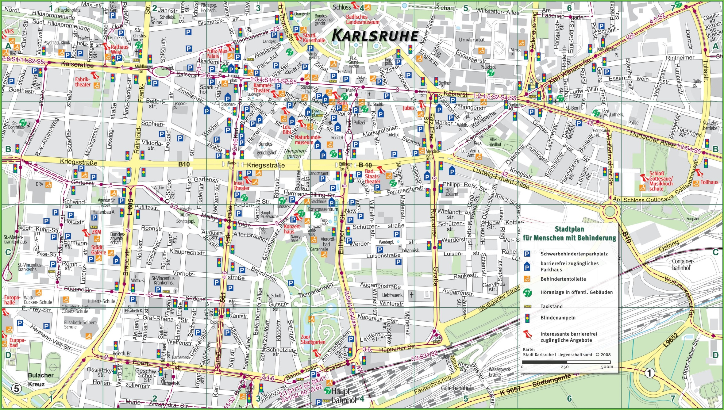 Karlsruhe tourist map