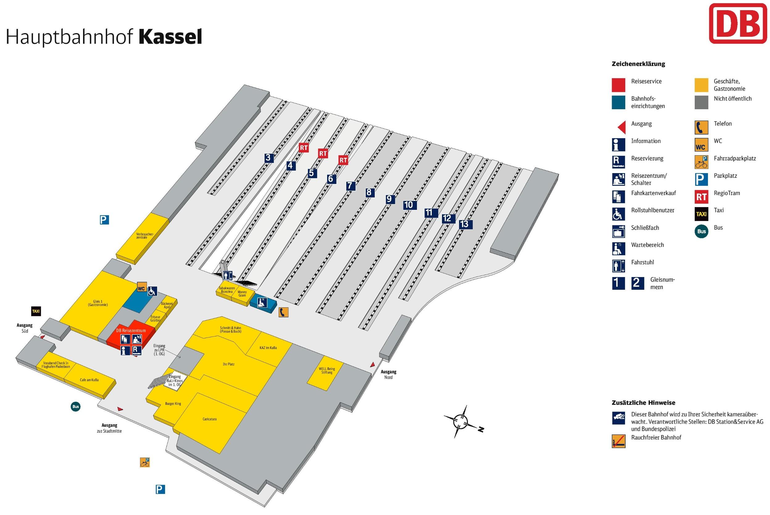 Kassel hauptbahnhof map
