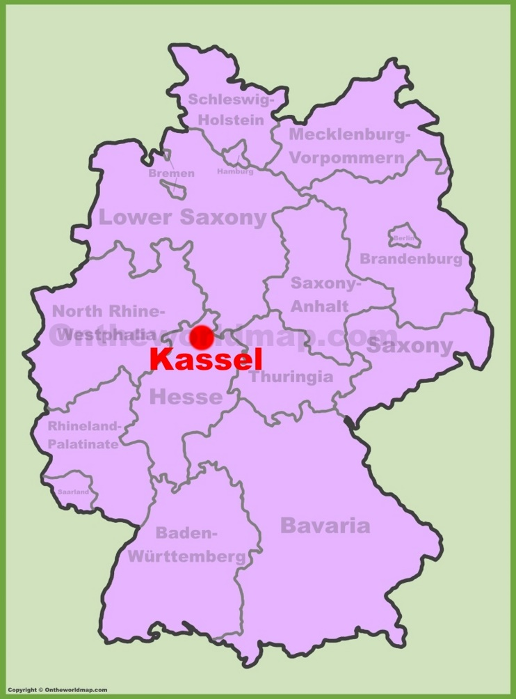 Kassel location on the Germany map