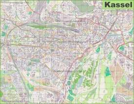 Large detailed map of Kassel