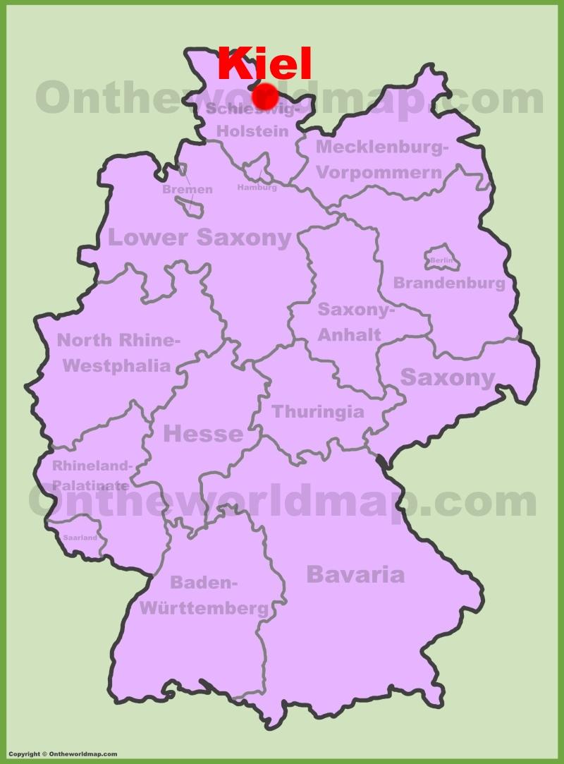 Kiel Maps Germany Maps of Kiel