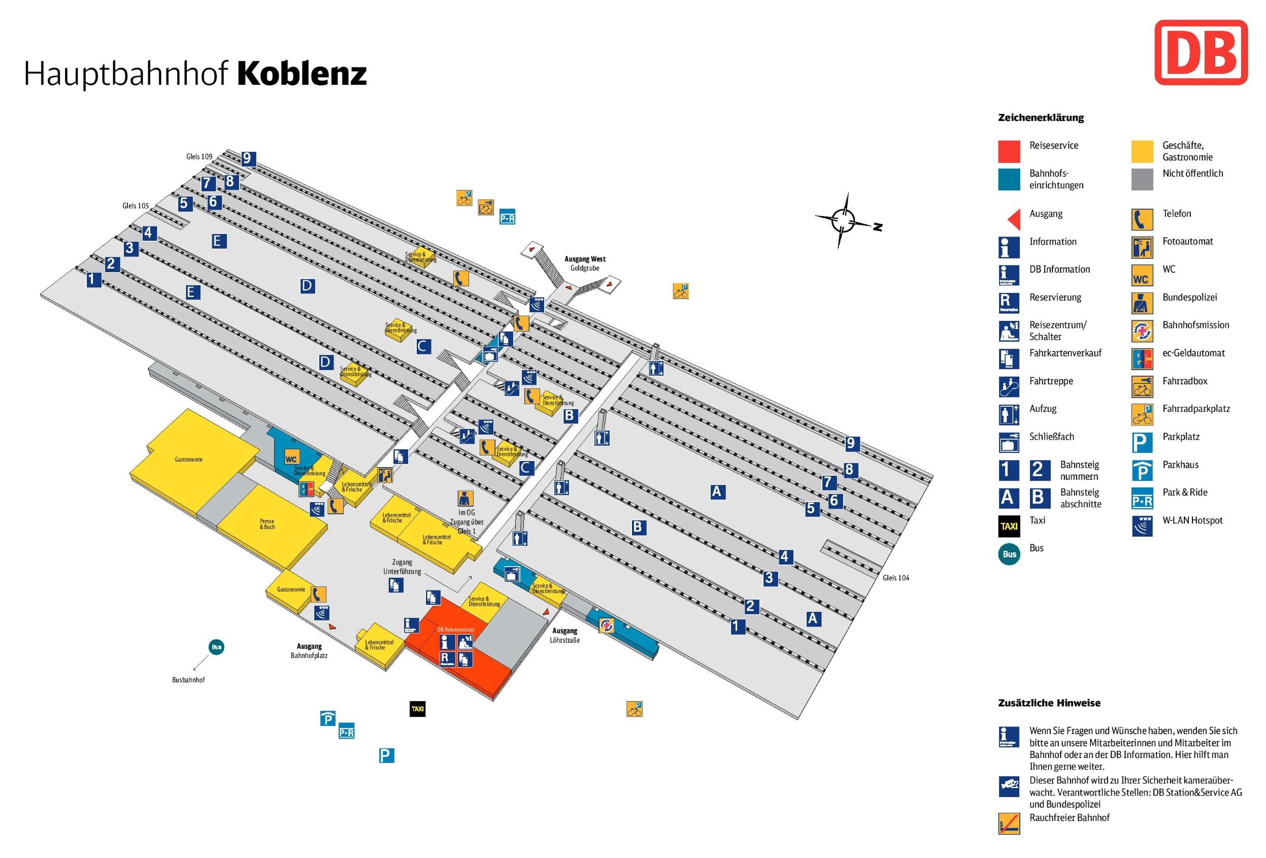 Koblenz hauptbahnhof map