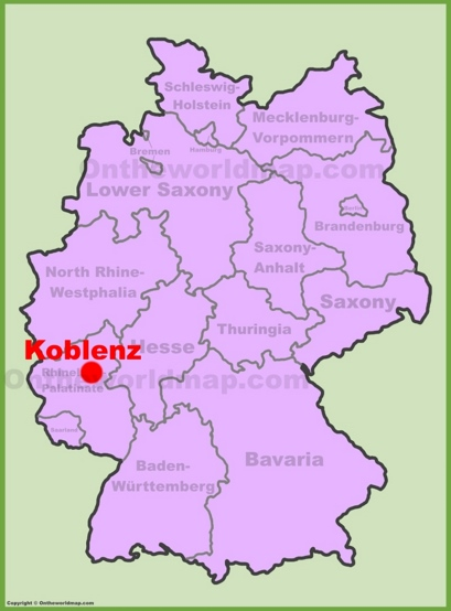 Koblenz Location Map